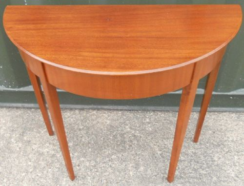 Mahogany Bowfront Console Side Table